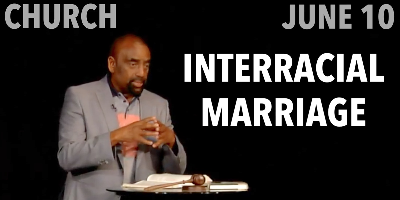 Jesse discusses interracial marriage at church