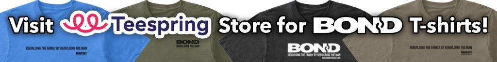 New BOND Teespring Store banner