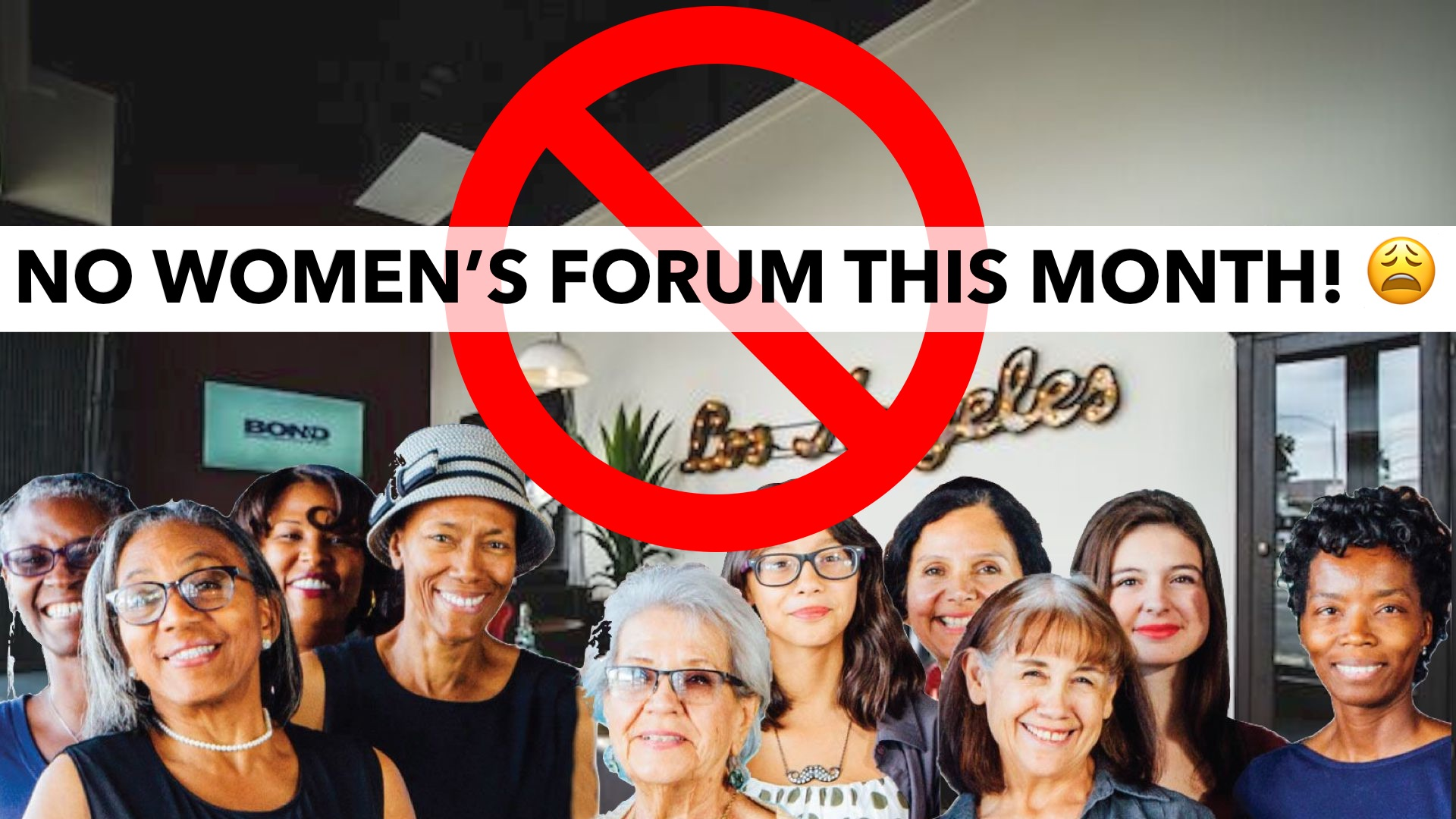 No Women's Forum this month