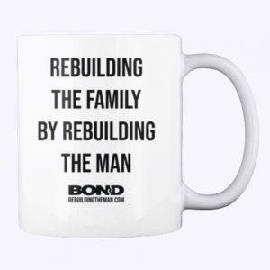 BOND motto mug (2-side, black ink)