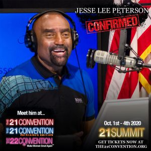 Jesse Lee Peterson speaking at The 21 Convention