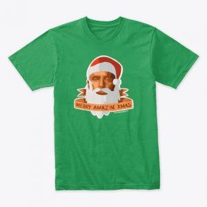 Santa Jesse: Merry Amazin' Xmas (Green tee)