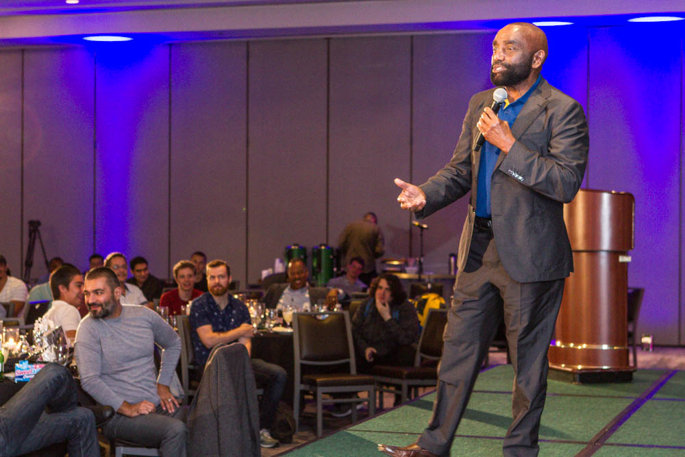 Jesse speaking at BOND conference