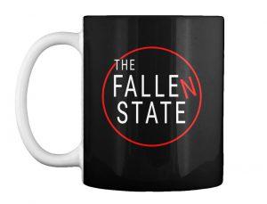 Mug with The Fallen State circle logo (black background)