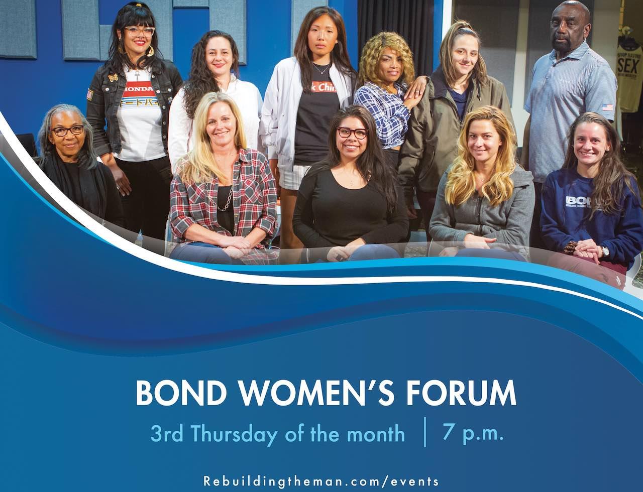 Women's Forum 3rd Thursday, 7pm